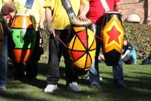 Karnevalståg i Malmö under Festival Latino