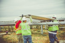 Construction of 102 MW RES solar facility is well underway near Lamesa, Texas