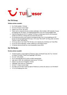 TUI Nordic Press kit