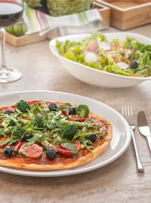 Villeroy & Boch Hotel & Restaurant Division: Pizza Genuss auf dem neuen Teller der Serie Dune