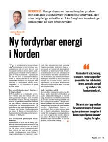 Presseklipp Kapital 2017 #09: Ny fordyrbar energi i Norden