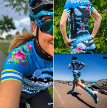 Power Woman releases LIMITED EDITION - BLUE ZEBRA - TRIATHLON SUIT