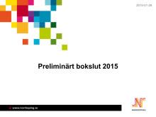 Preliminärt bokslut 2015, Norrköpings kommun