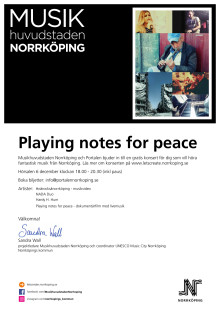 Inbjudan: Playing notes for peace