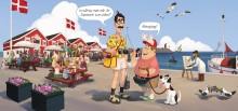 Stig Helmer i reklamkampanj för semesterresor till Danmark
