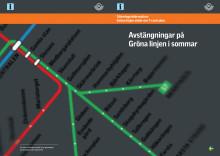 Trafiklösning sommaravstängning Gröna linjen