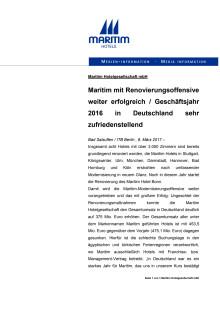 Maritim Hotels Geschäftsentwicklung ITB 2017