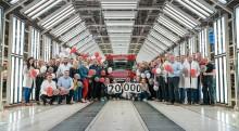 MAN TGE nummer 20.000 rullet af produktionsbåndet