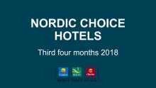 Nordic Choice Hotels Tertial Rapport 3