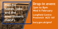 Prestwich the next venue for our Greater Manchester Spatial Framework drop-ins