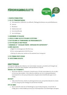 Föredragningslista och debattregler