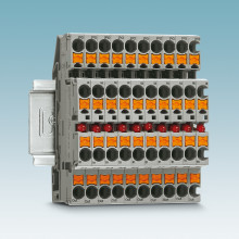 Current indicator terminal blocks with Push-in connection