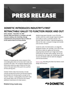 Dometic Introduces Industry's First Retractable Galley to Function Inside and Out