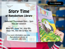 Time for a story at Ramsbottom Library