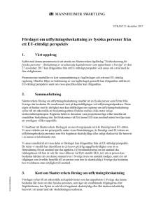 Mannheimer Swartling Advokatbyrå: Analys av utflyttningsskatten