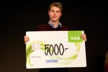 Student från Högskolan Väst får pris för bästa affärsidé