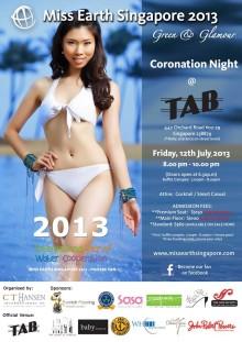 Evorich Flooring Sponsors Miss Earth Singapore 2013 Event