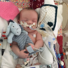 Parents of little boy born with life-threatening condition raise over £14,000 to thank charities close to their hearts