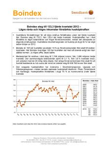 Swedbank Boindex, Q4, 2012