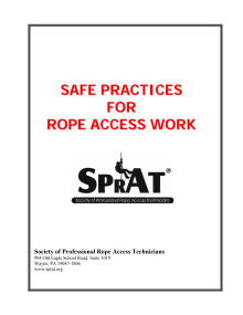 140823 SPRAT Safe practices for rope access work