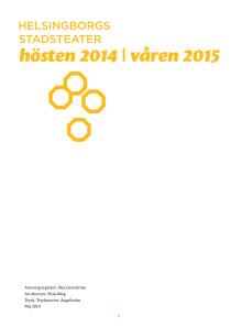 Helsingborgs stadsteater 2014/2015