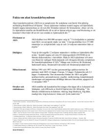 Faktamaterial - om akut kranskärlssyndrom