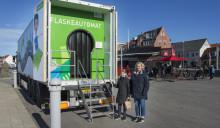 Solcelledrevet, mobil udstilling på tur i sommerlandet