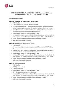 LG CES 2013 tekniset tiedot liite_kotiteatterijärjestelmät