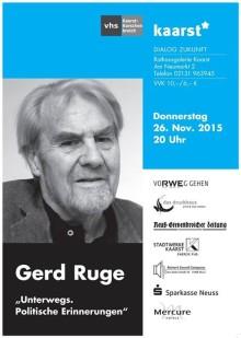Gerd Ruge - Unterwegs. Politische Erinnerungen.