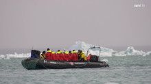Watch Svalbard Minutt for Minutt and see OXE Diesel equipped tenders at Hurtigruten´s MS Spitsbergen