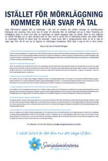 SD-annons som bemöter myter om invandringen stoppades av DN