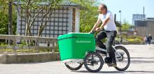 Nu rullar Stockholmshems första cykelburna områdestekniker