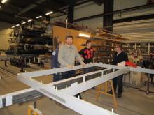 Profilteam AS leverer ståldør på nærmere 20 kvm