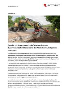 Rototilt, ein Unternehmen im Aufwind, vertieft seine Zusammenarbeit mit Eurosteel in den Niederlanden, Belgien und Luxemburg