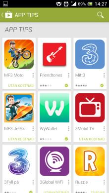 Betala appar i Google Play via mobilfakturan
