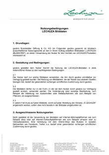Nutzungsbedingungen LECHUZA Bilddaten / Terms of use LECHUZA picture files