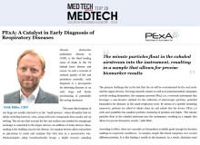 "PExA utnämnd till en av  ""Top 20 MedTech Solution Providers"" i  Europa 2018 av MedTech Outlook Magazine"