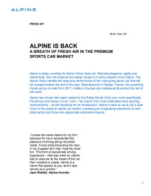 Alpine - press kit (engelska)