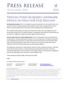 Pressemelding Tristan Capital Partners