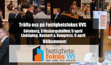 Hoppas vi ses på Fastighetsfokus VVS i Göteborg eller Linköping, den 5 och 6 april!