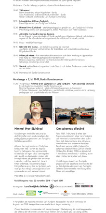 Program: Lars Tunbjörks symposium 22 november