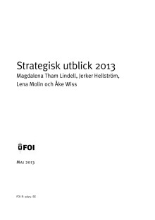 Strategisk Utblick 2013 - en förhandstitt på alla ämnen