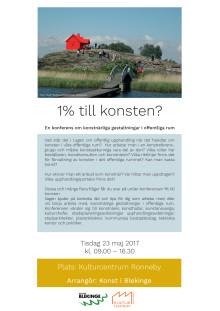 Program för konferensen om konst den 23 maj