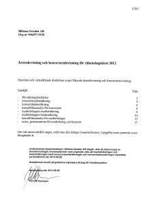 Årsredovisning och koncernredovisning 2012