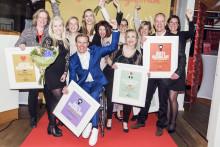 Hjärnfonden, Aron Anderson och Svenska FN-förbundet/Apoteksgruppen är Årets insamlare 2015 - hederspris till ActionAid