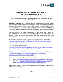 """LinkedIn führt """"Mobile Recruiter"""" App für Personalverantwortliche ein"""