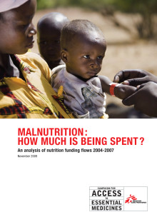 """Rapport """"Malnutrition: how much is being spent?"""""""