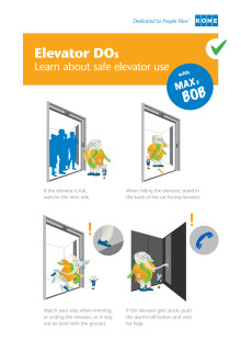 Use Elevator Safely with Tips from Max & Bob