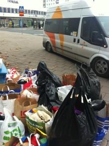 Samtrans samlade in kläder till Stockholms hemlösa