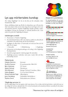 Seminarium: Lys upp mörkertalets kunskap - en eftermiddag om och med slagfärdiga